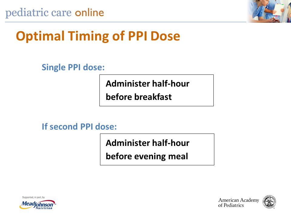 Optimal Timing of PPI Dose