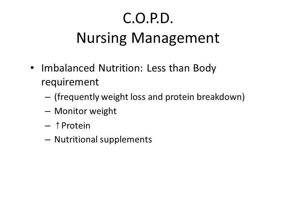 C.O.P.D. Nursing Management