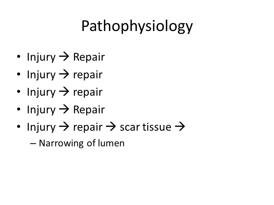 Pathophysiology Injury  Repair Injury  repair