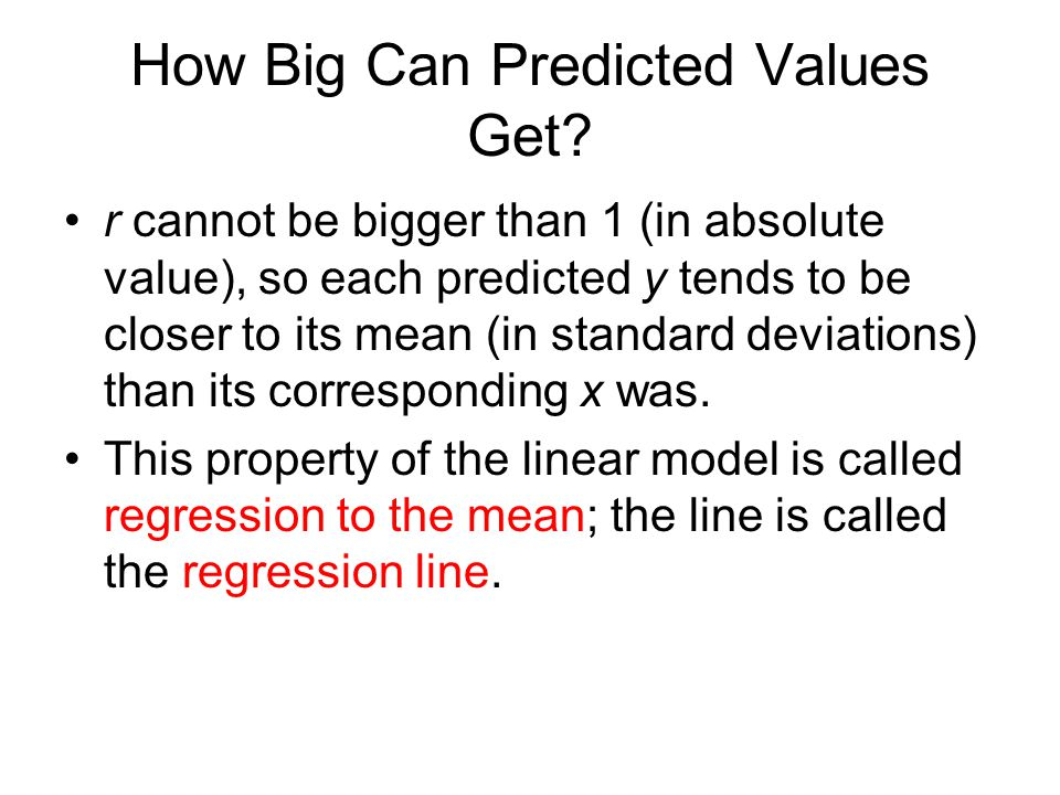 How Big Can Predicted Values Get