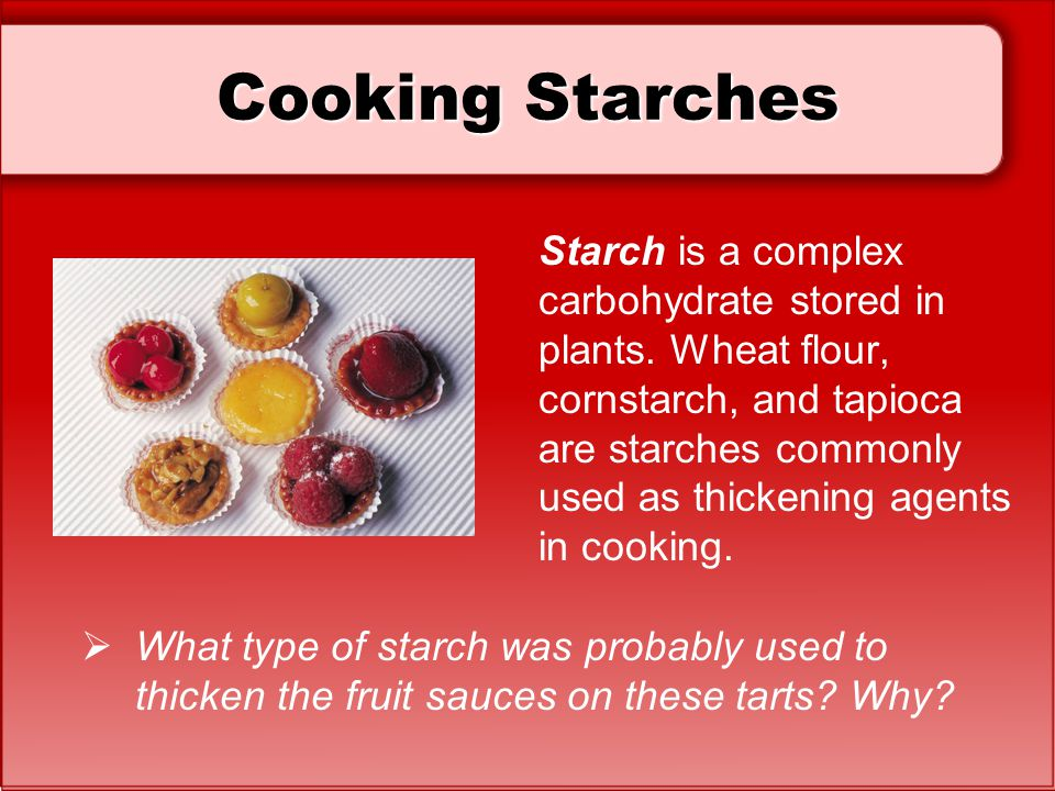 Cooking Starches