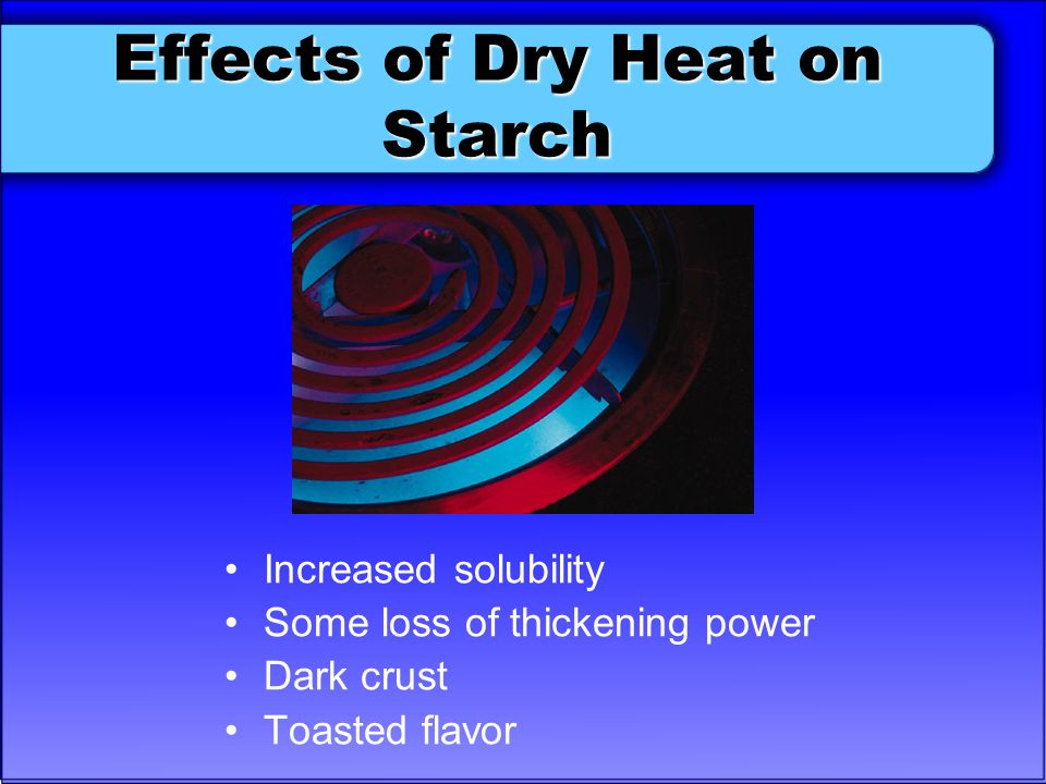 Effects of Dry Heat on Starch