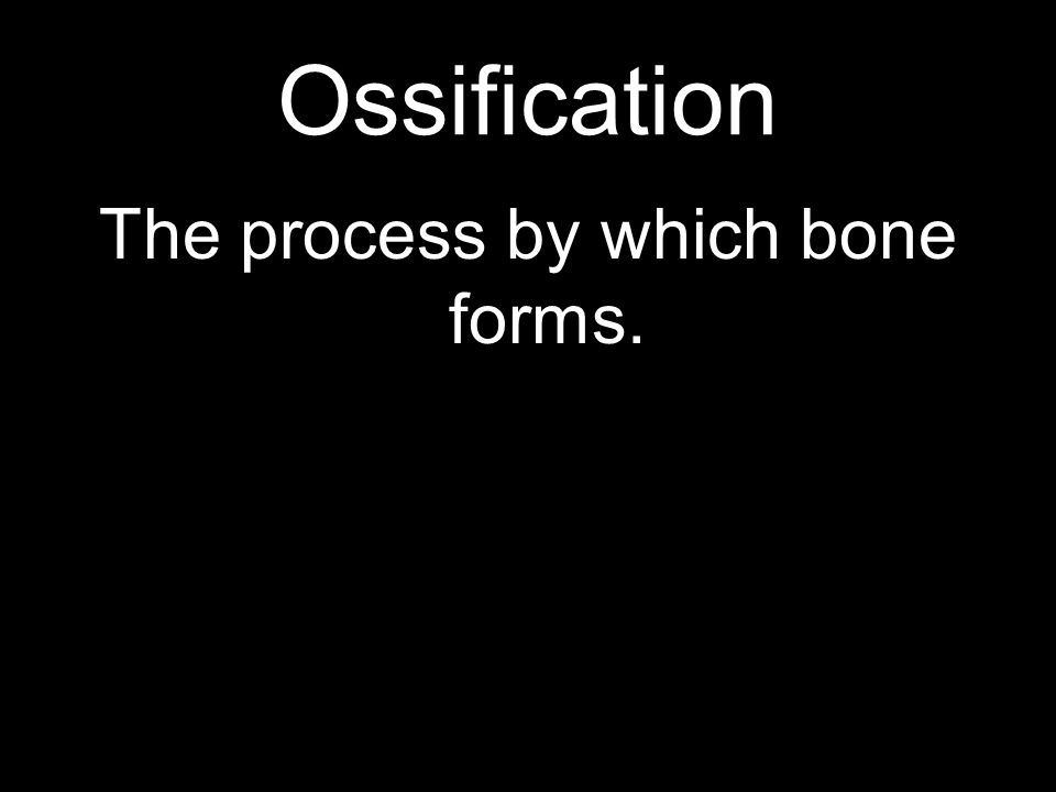 The process by which bone forms.