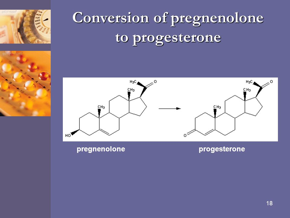 Conversion of pregnenolone to progesterone