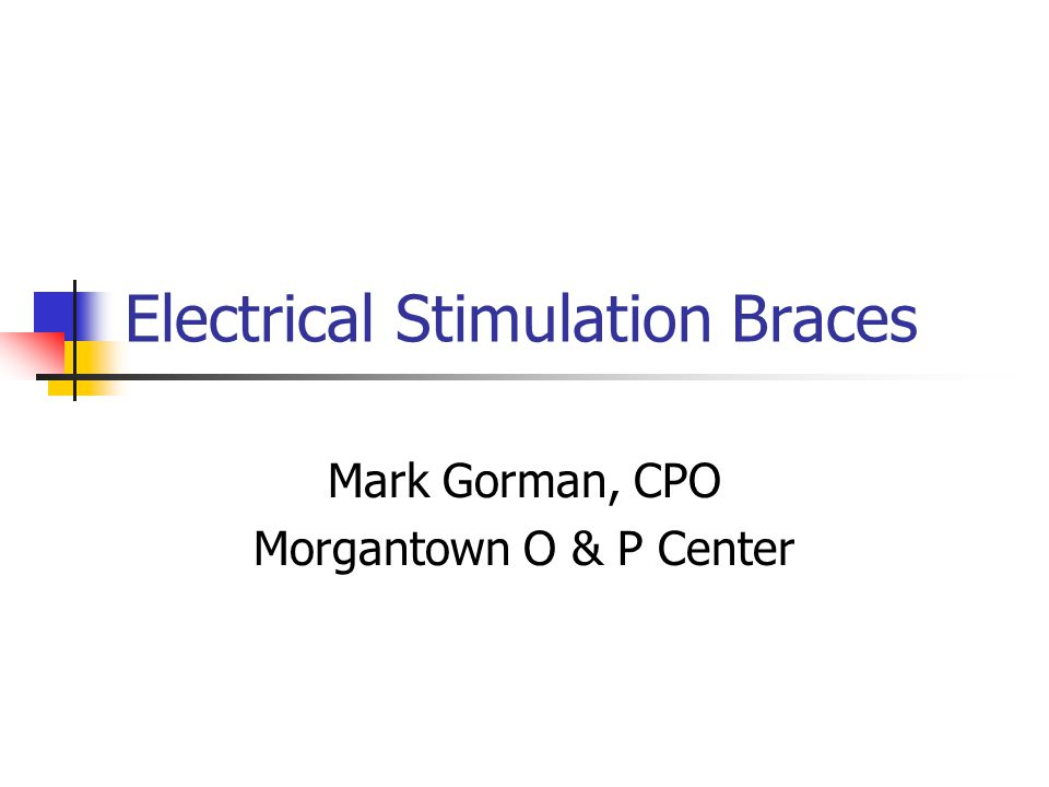 Electrical Stimulation Braces