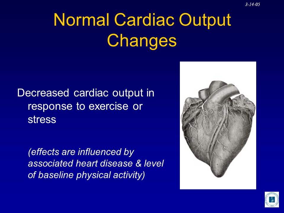 Normal Cardiac Output Changes