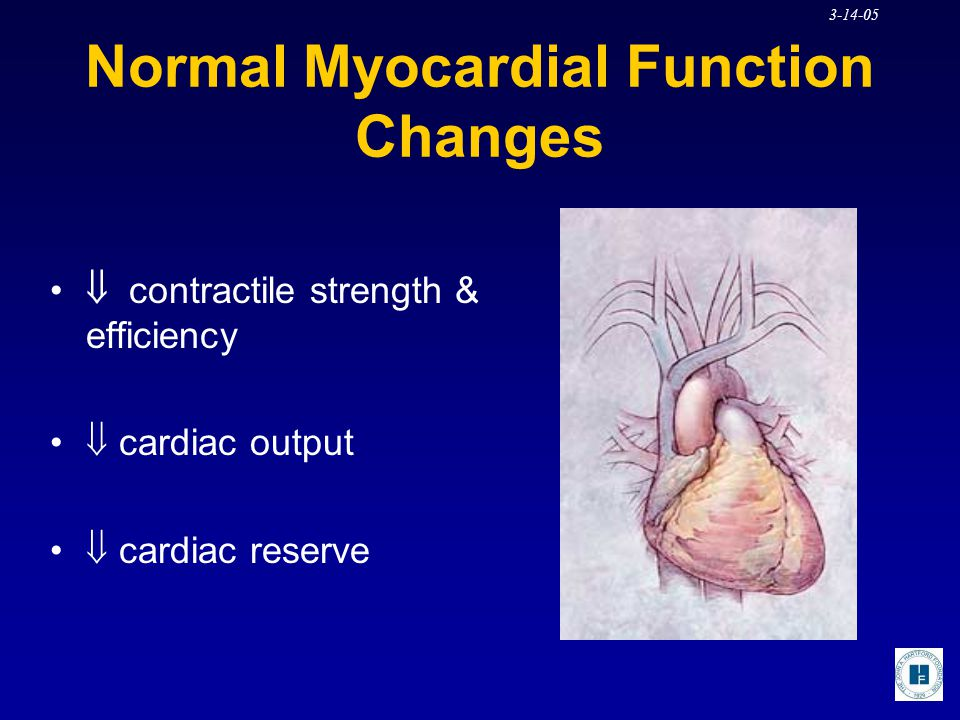 Normal Myocardial Function Changes