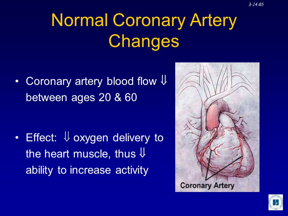Normal Coronary Artery Changes