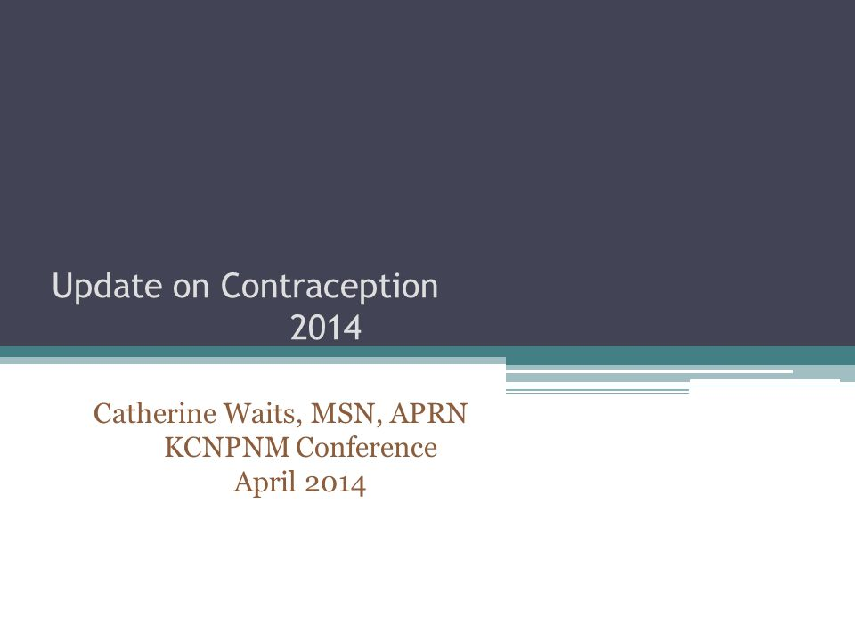 Update on Contraception 2014