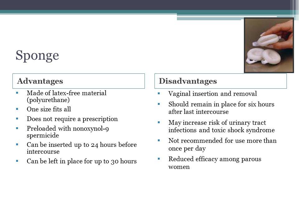 Sponge Advantages Disadvantages