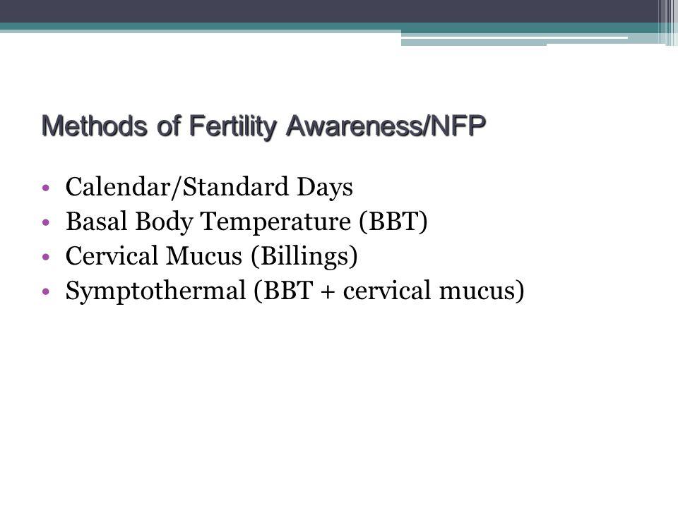 Methods of Fertility Awareness/NFP