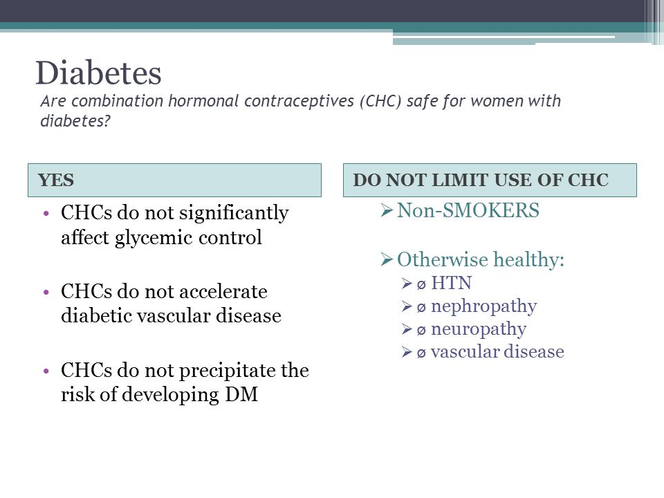 Diabetes CHCs do not significantly affect glycemic control