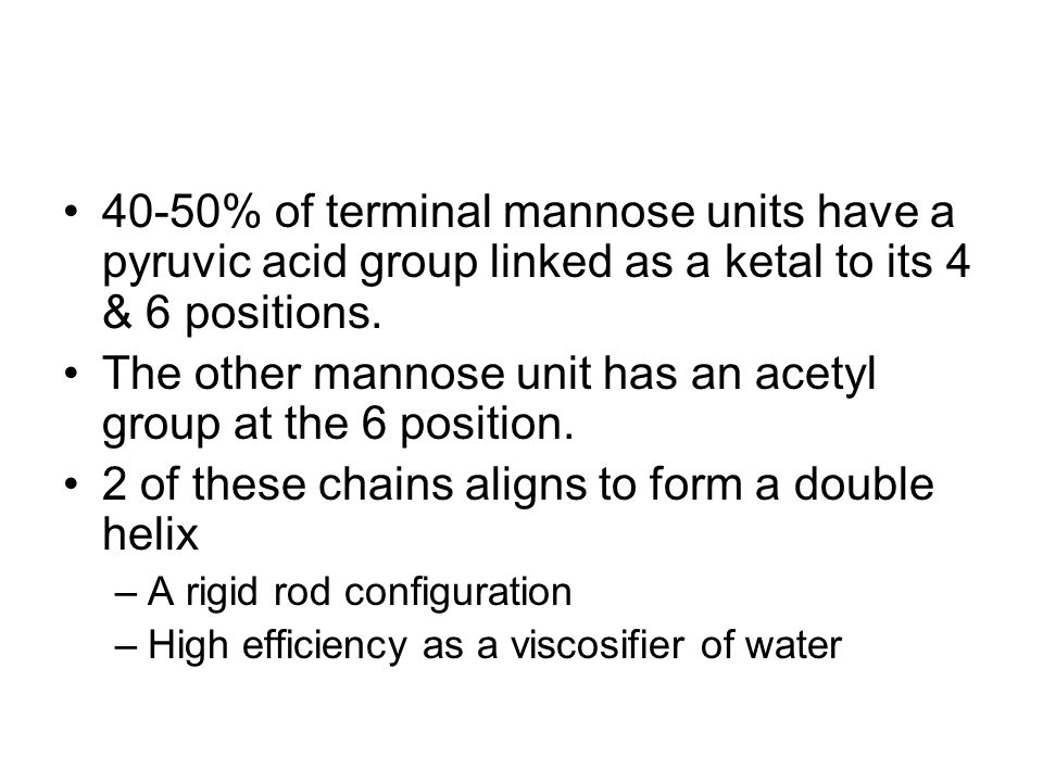 The other mannose unit has an acetyl group at the 6 position.