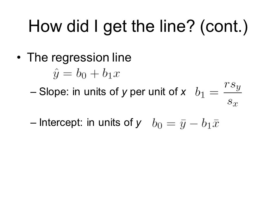 How did I get the line (cont.)