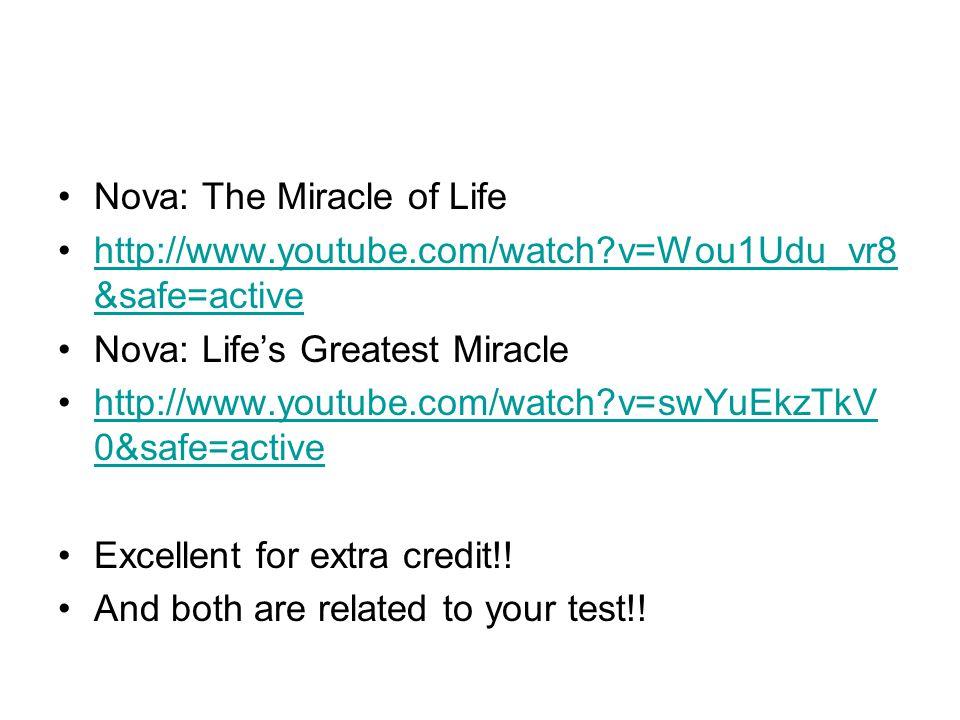 Nova: The Miracle of Life