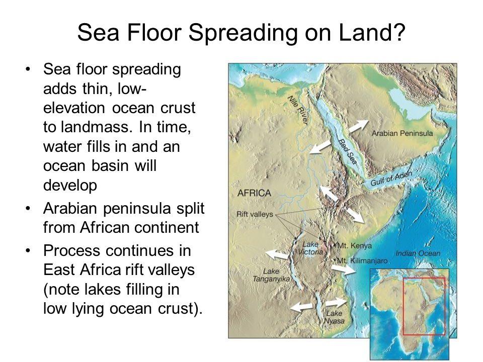 Sea Floor Spreading on Land