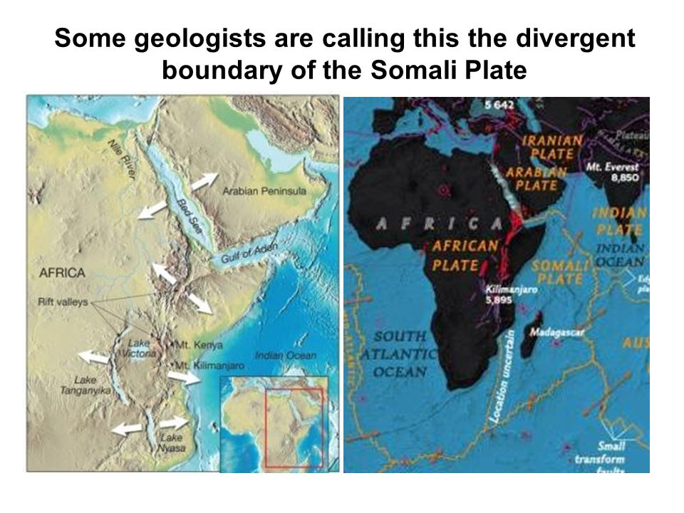 Some geologists are calling this the divergent boundary of the Somali Plate