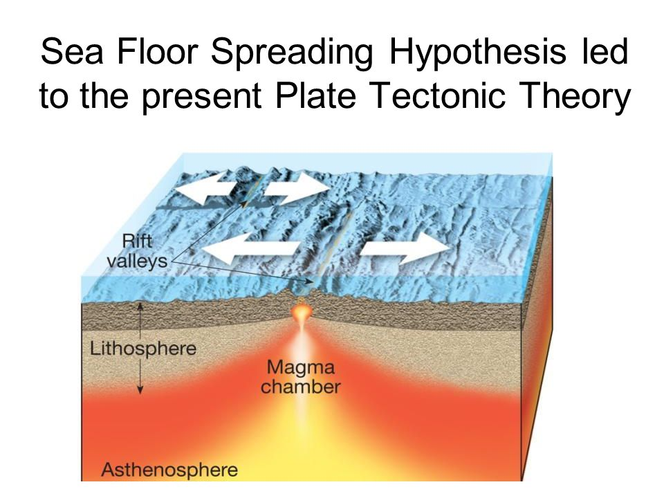 Sea Floor Spreading Hypothesis led to the present Plate Tectonic Theory