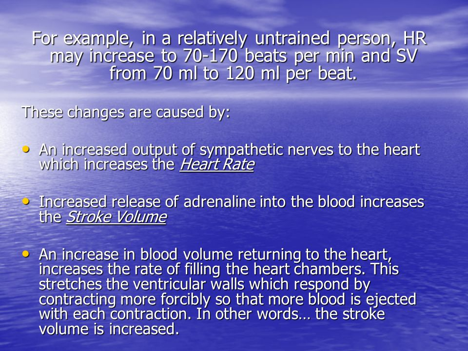 These changes are caused by: