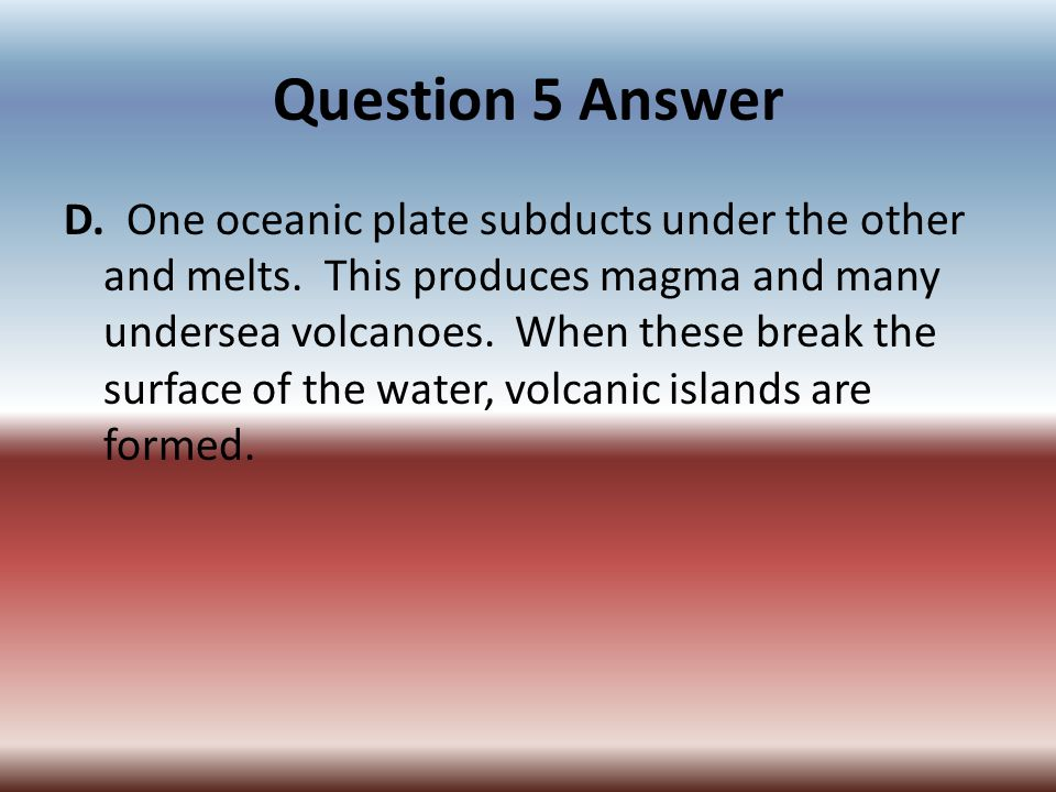 Question 5 Answer