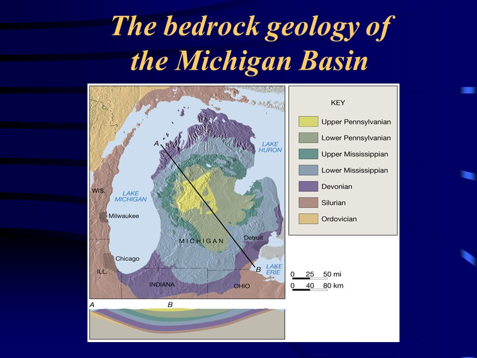 The bedrock geology of the Michigan Basin