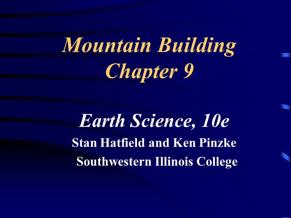 Mountain Building Chapter 9