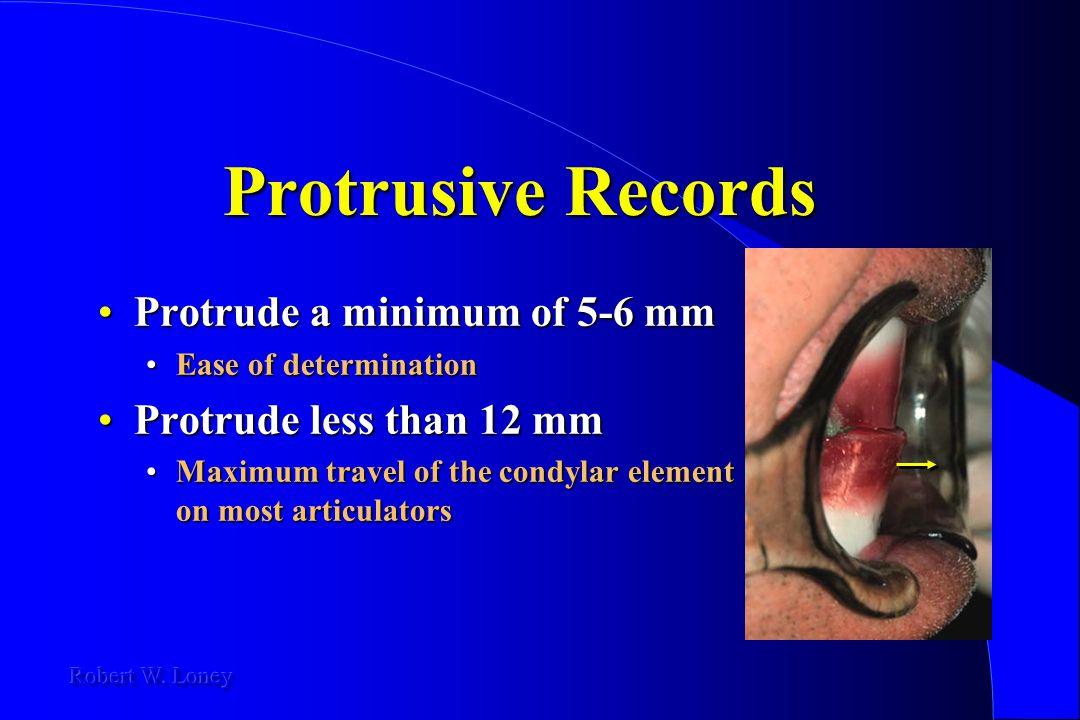 Protrusive Records Protrude a minimum of 5-6 mm