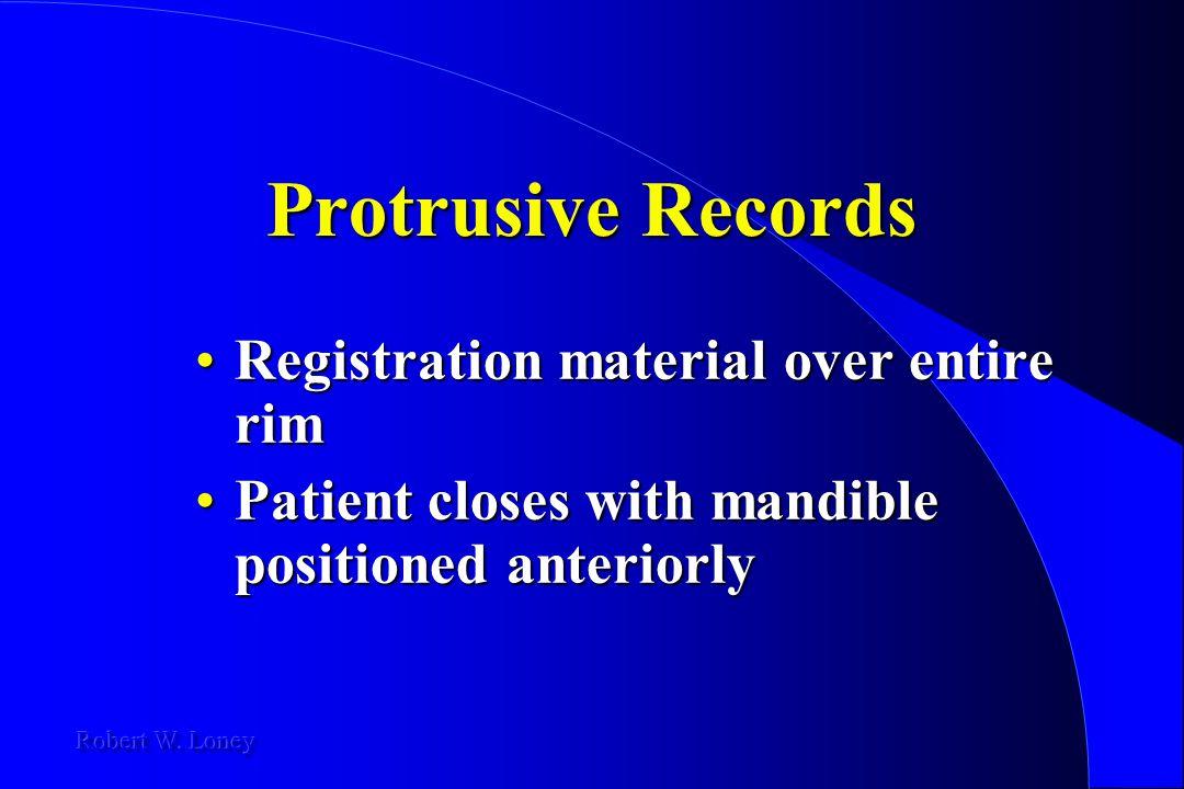 Protrusive Records Registration material over entire rim