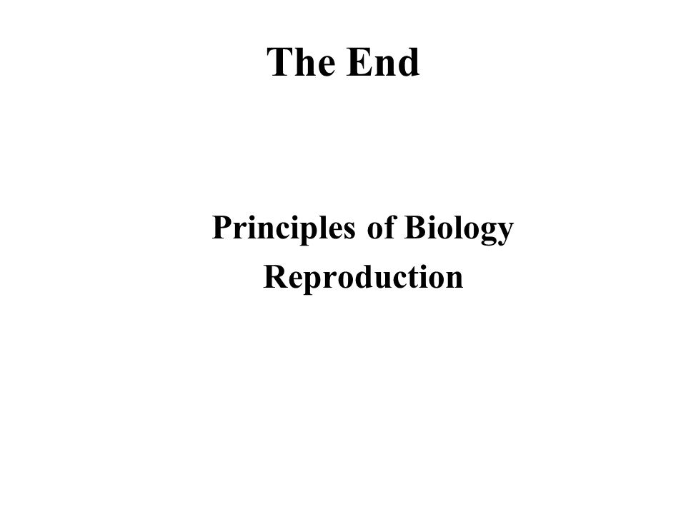 Principles of Biology Reproduction