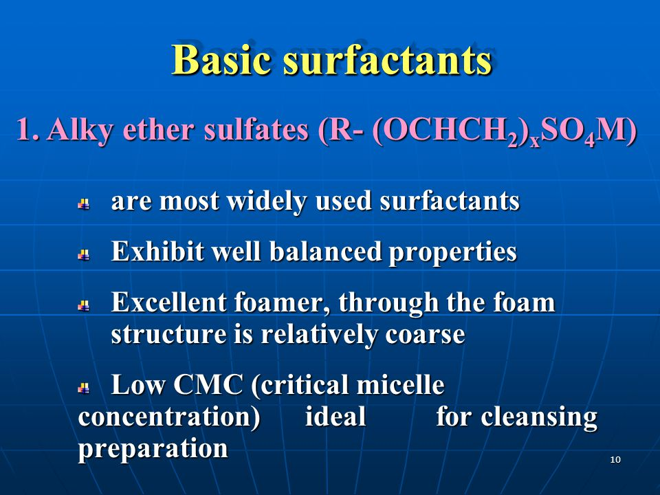 Basic surfactants Basic surfactants