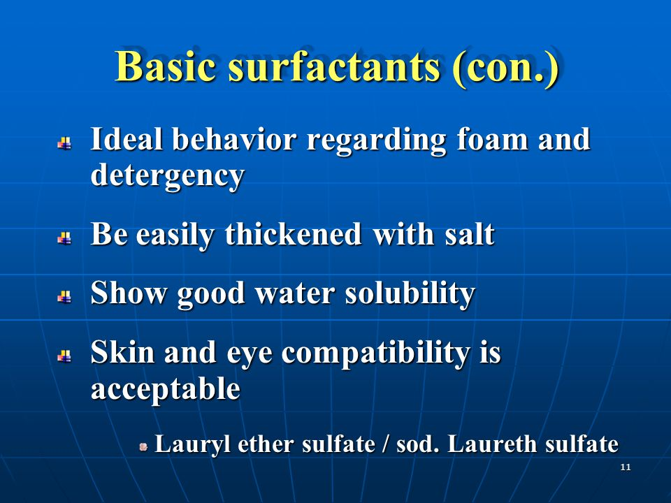 Basic surfactants (con.)