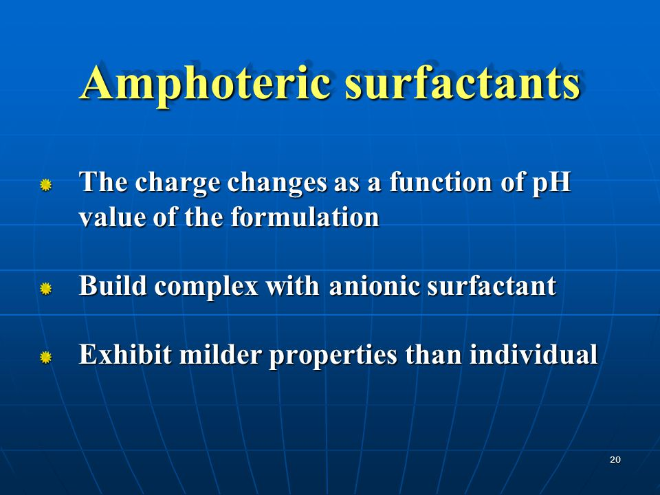 Amphoteric surfactants