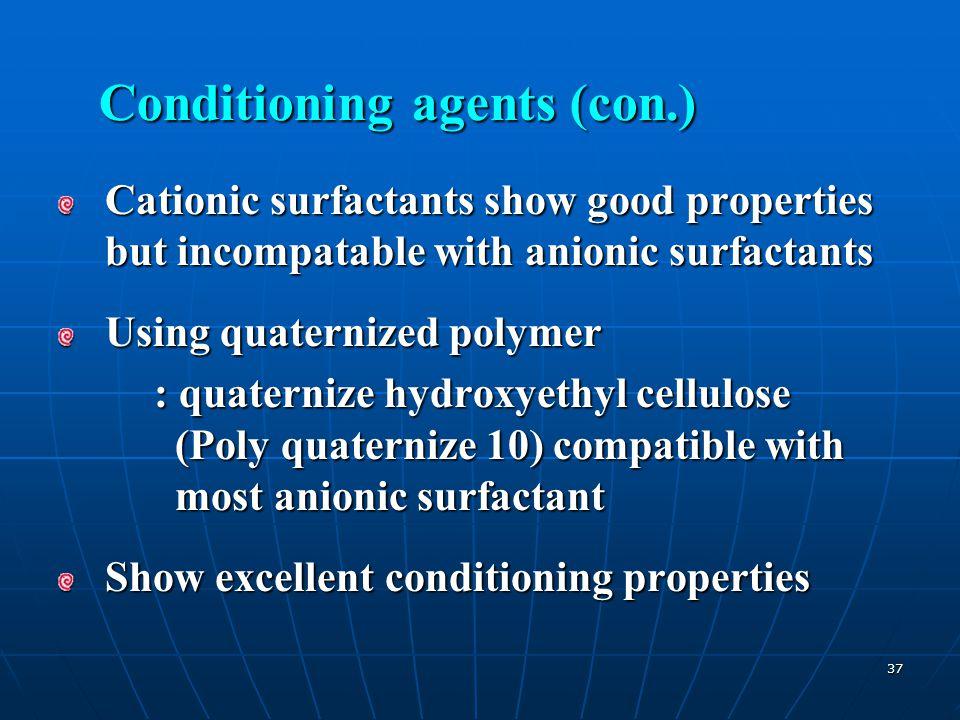 Conditioning agents (con.)