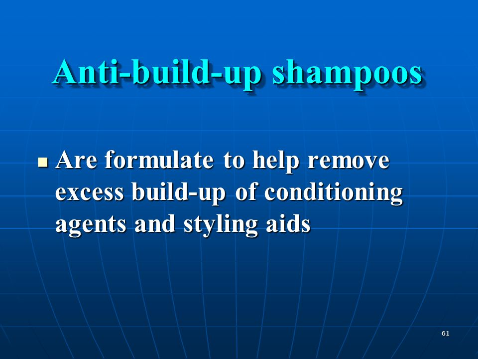 Anti-build-up shampoos