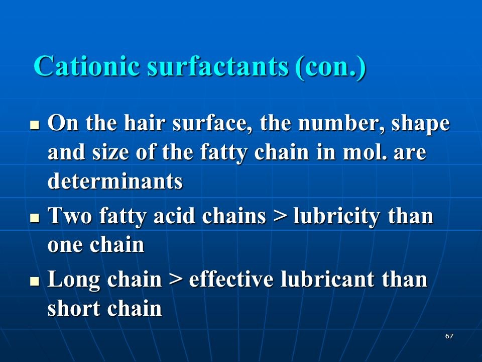 Cationic surfactants (con.)