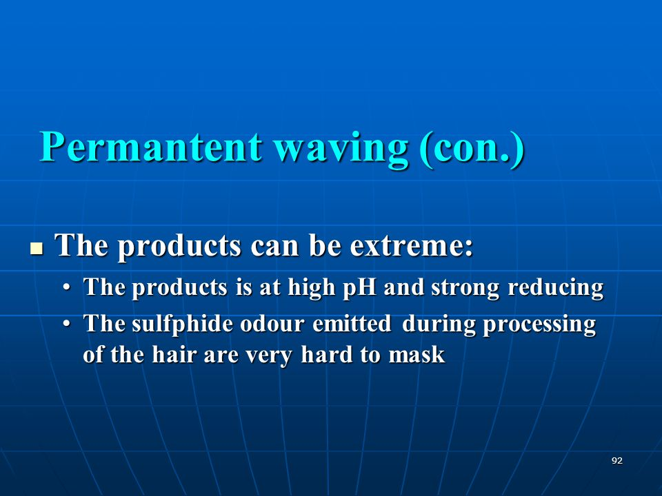 Permantent waving (con.)