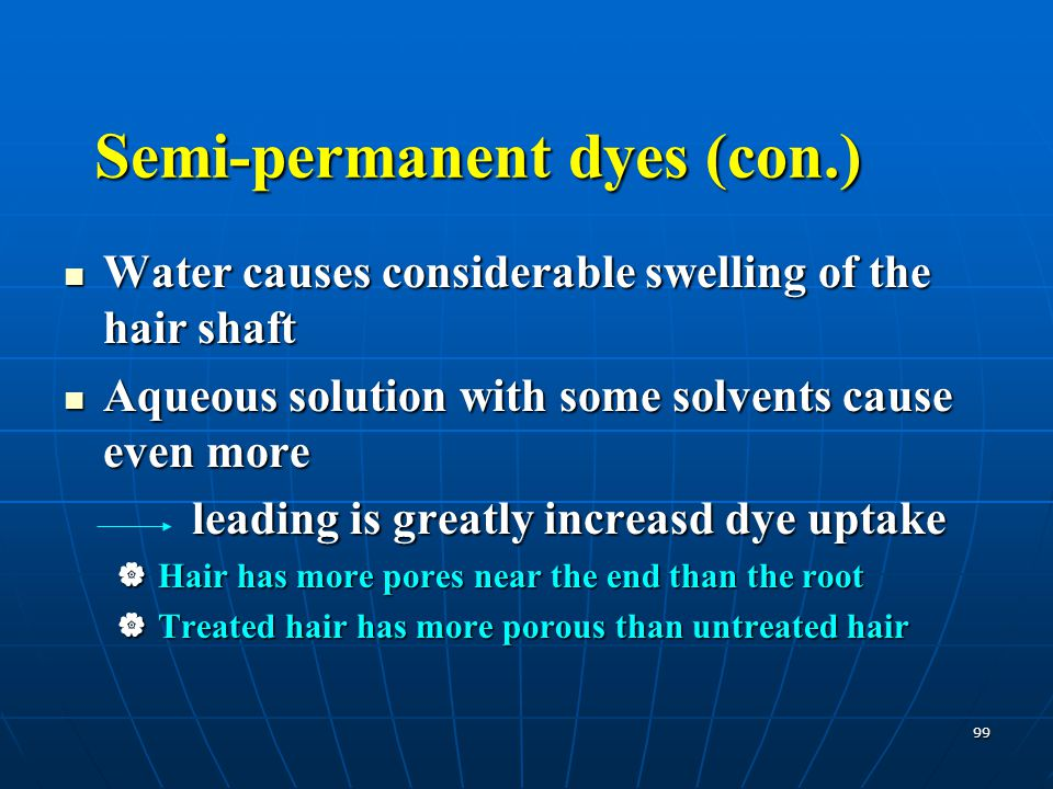Semi-permanent dyes (con.)