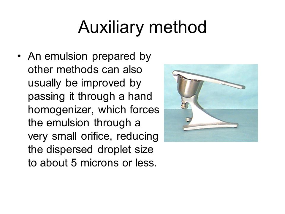 Auxiliary method