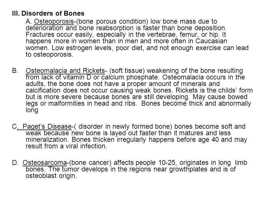 III. Disorders of Bones