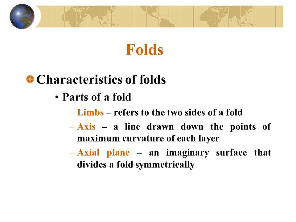 Folds Characteristics of folds Parts of a fold