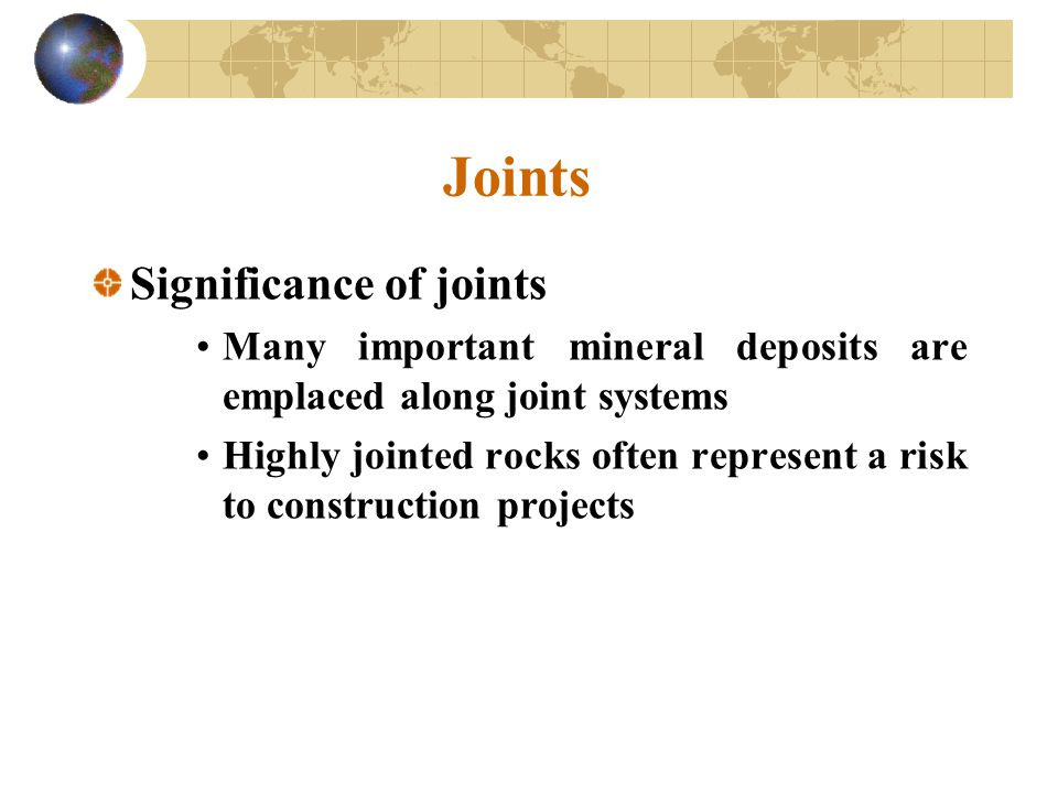 Joints Significance of joints