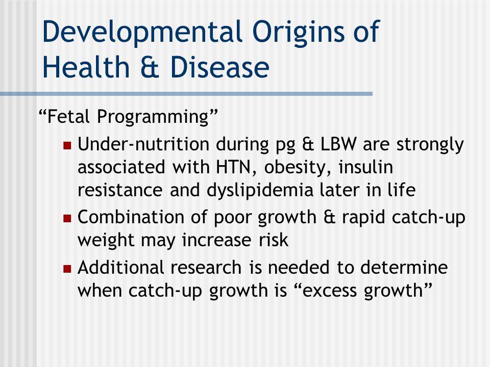 Developmental Origins of Health & Disease