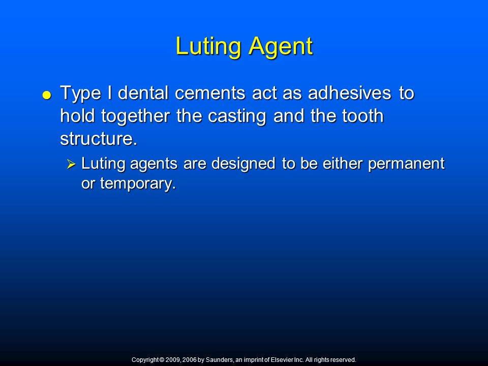 Dental Cements Chapter Ppt Video Online Download