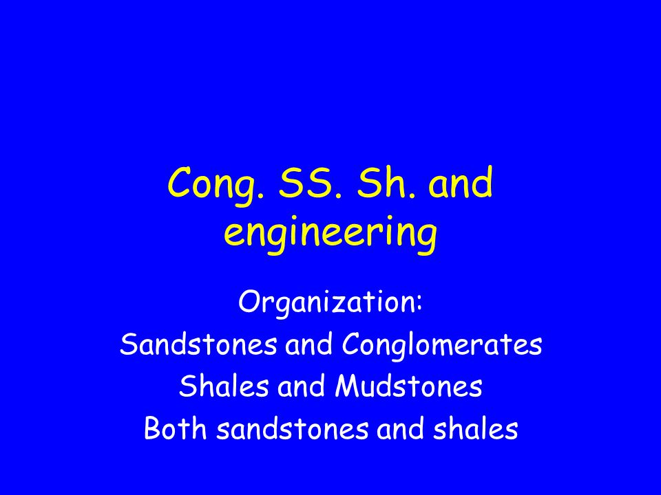 Cong. SS. Sh. and engineering