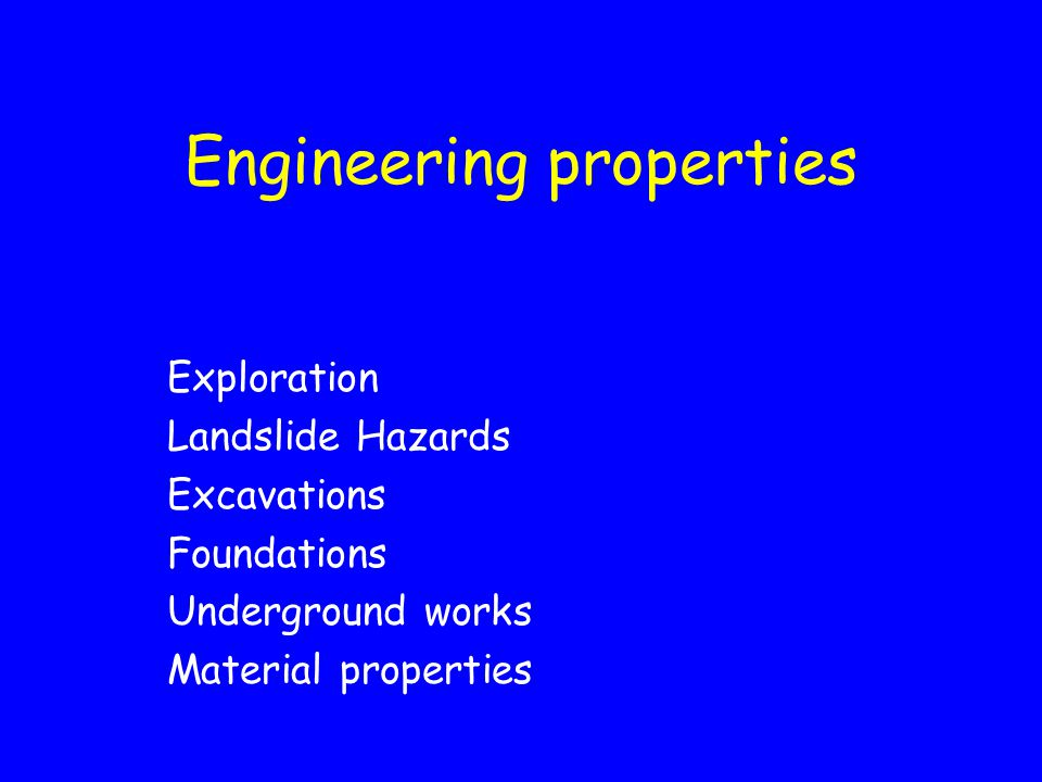 Engineering properties