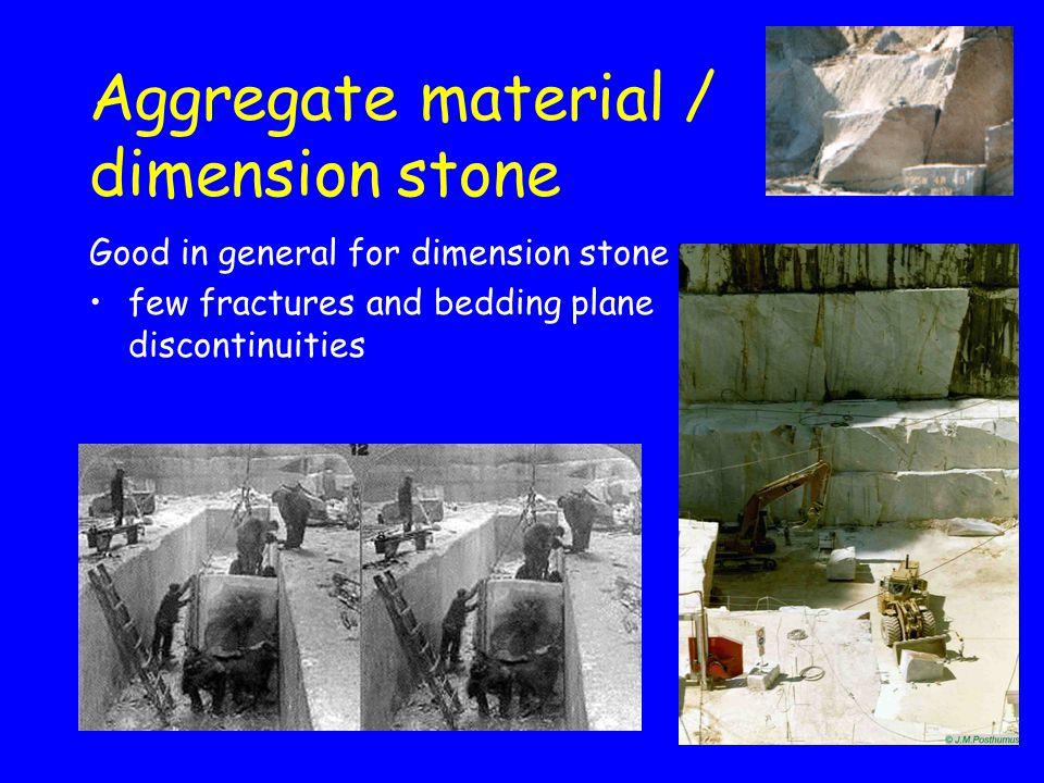 Aggregate material / dimension stone