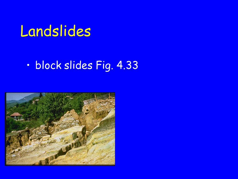 Landslides block slides Fig. 4.33