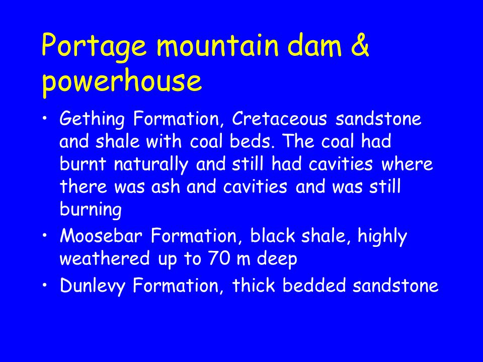 Portage mountain dam & powerhouse