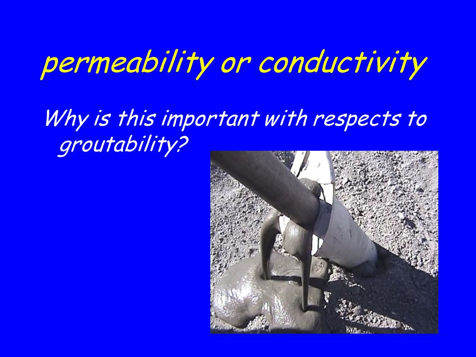 permeability or conductivity