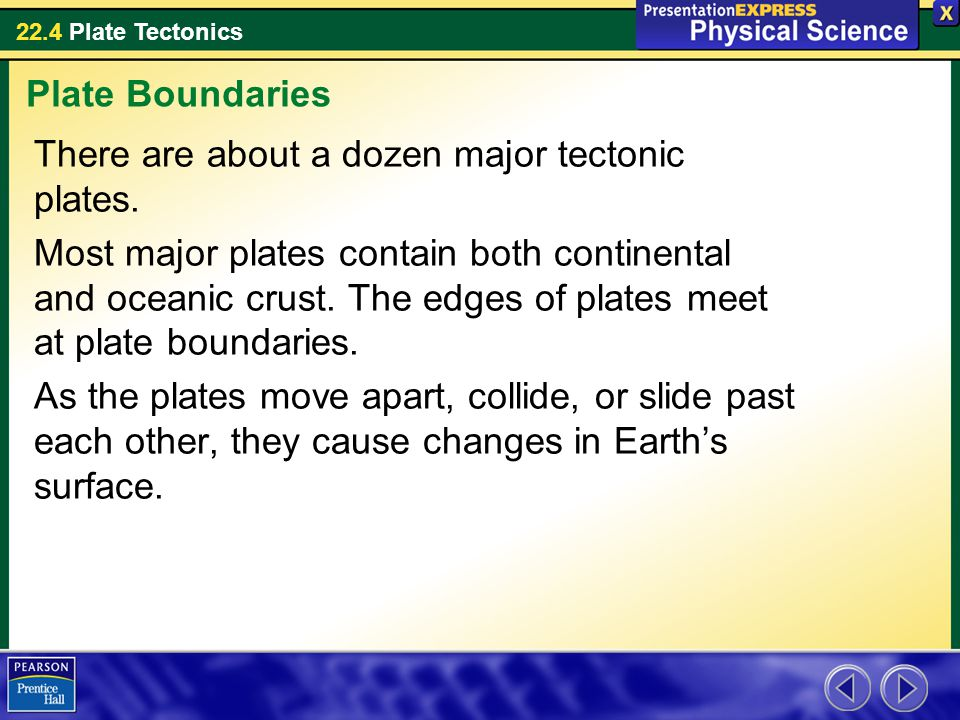 Plate Boundaries There are about a dozen major tectonic plates.